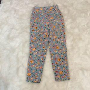 "Womens Tommy Hilfiger Floral Pants SZ4 x27""Side"